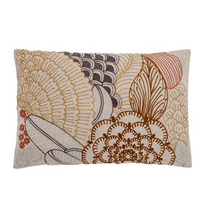 BLOOMINGVILLE - Floral Cushion, Nature, Cotton