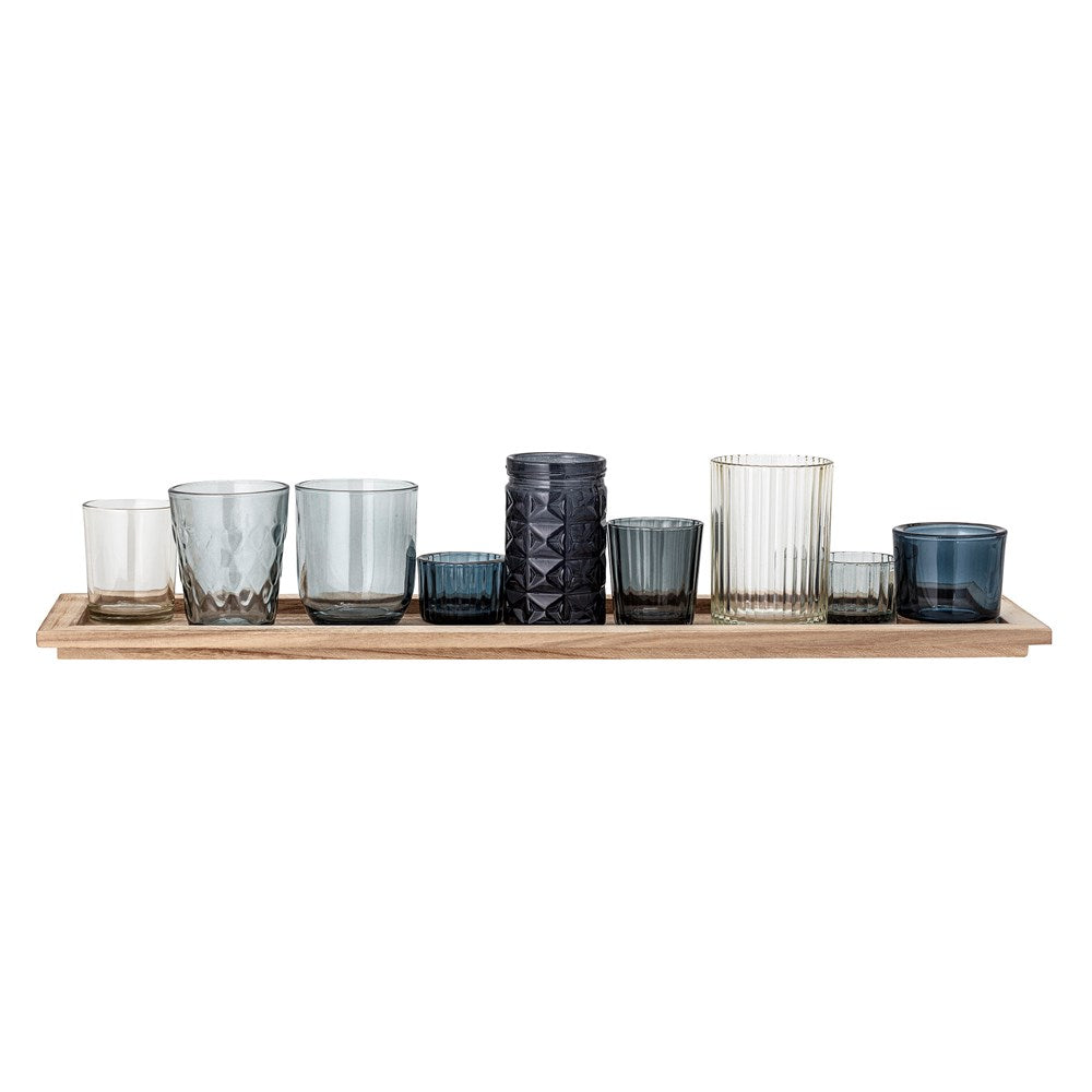 BLOOMINGVILLE - Set of 10 votives with Tray