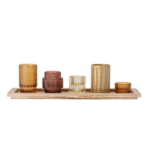 BLOOMINGVILLE - Elvina Set of 5 votives w/ Tray