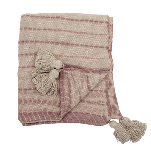 Throw, Rose, Recycled Cotton