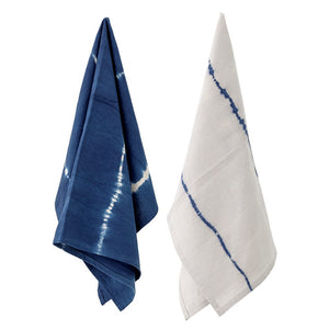 BLOOMINGVILLE - Kitchen Towel, Blue, Cotton - Frenchbazaar -Bloomingville