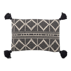 BLOOMINGVILLE - Noe Cushion Black Recycled Cotton - Frenchbazaar -Bloomingville