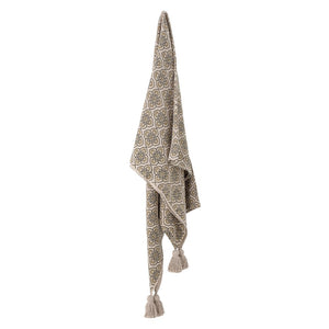 BLOOMINGVILLE -Vitas Green Cotton Throw