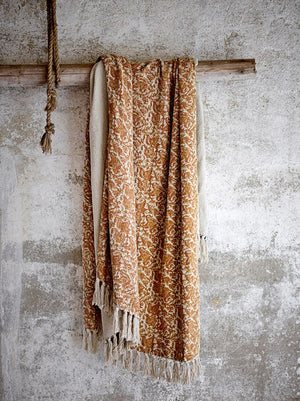 BLOOMINGVILLE - Cianna Brown Recycled Cotton Throw