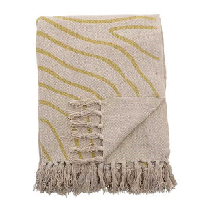 BLOOMINGVILLE - Cibelle Yellow Recycled Throw