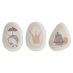 BLOOMINGVILLE -Set of 3 Princess Bamboo Plates - Frenchbazaar -Bloomingville