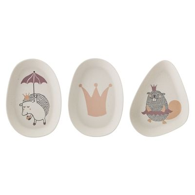 BLOOMINGVILLE -Set of 3 Princess Bamboo Plates