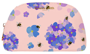FENELLA SMITH - Bee Vegan Leather Oyster Cosmetic Case - Frenchbazaar -Fenella Smith