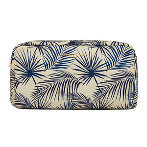 FENELLA SMITH- Blue Palm Vegan Leather Box Wash Bag - Frenchbazaar -Fenella Smith