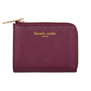 FENELLA SMITH- Burgundy Vegan Leather Coin Purse - Frenchbazaar -Fenella Smith