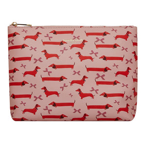 FENELLA SMITH- Dachshund Vegan Leather Wash Bag - Frenchbazaar -Fenella Smith
