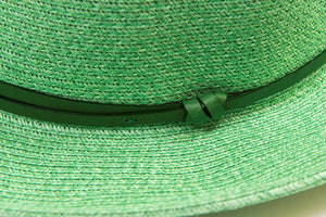 TRAVAUX EN COURS - Borsalino hat leather strap Mint - Frenchbazaar -Travaux en cours