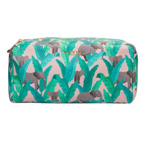 FENELLA SMITH- Elephant Vegan Leather Box Wash Bag - Frenchbazaar -Fenella Smith