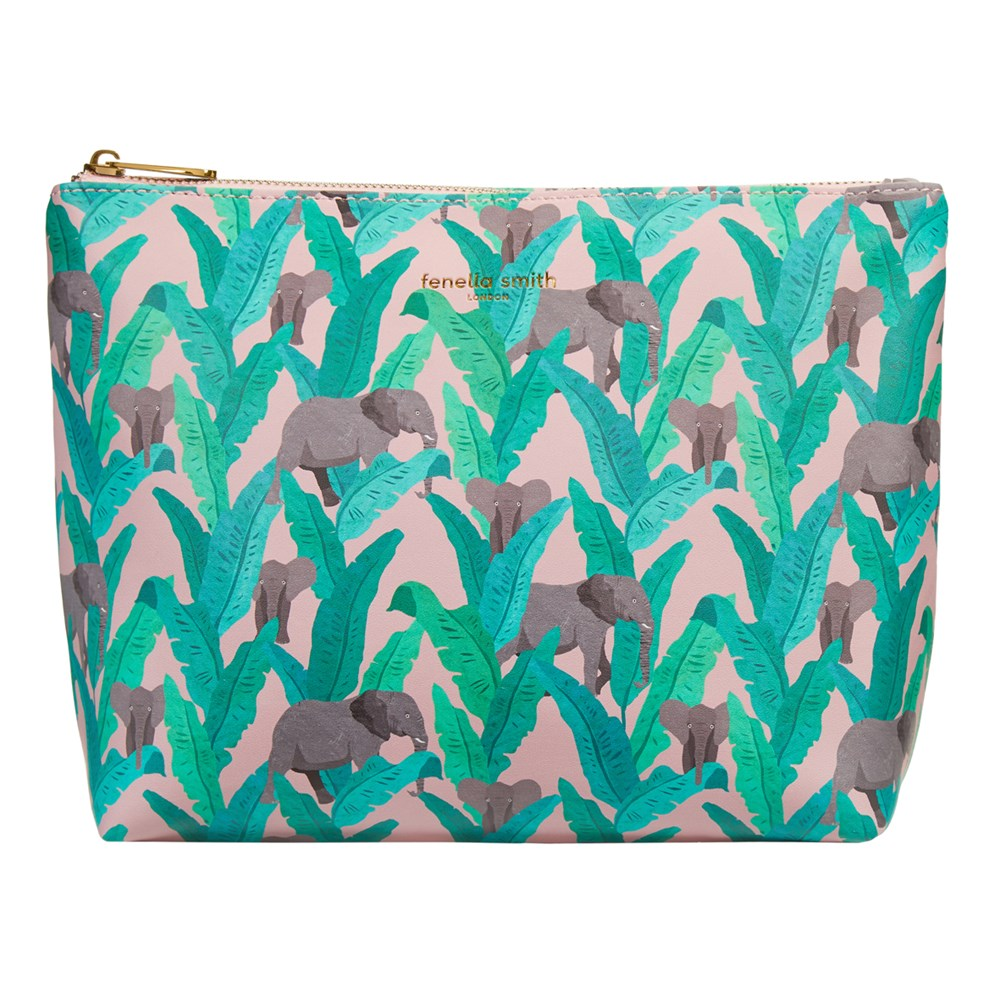 Fenella Smith - Elephant Vegan Leather Wash Bag - Frenchbazaar -Fenella Smith