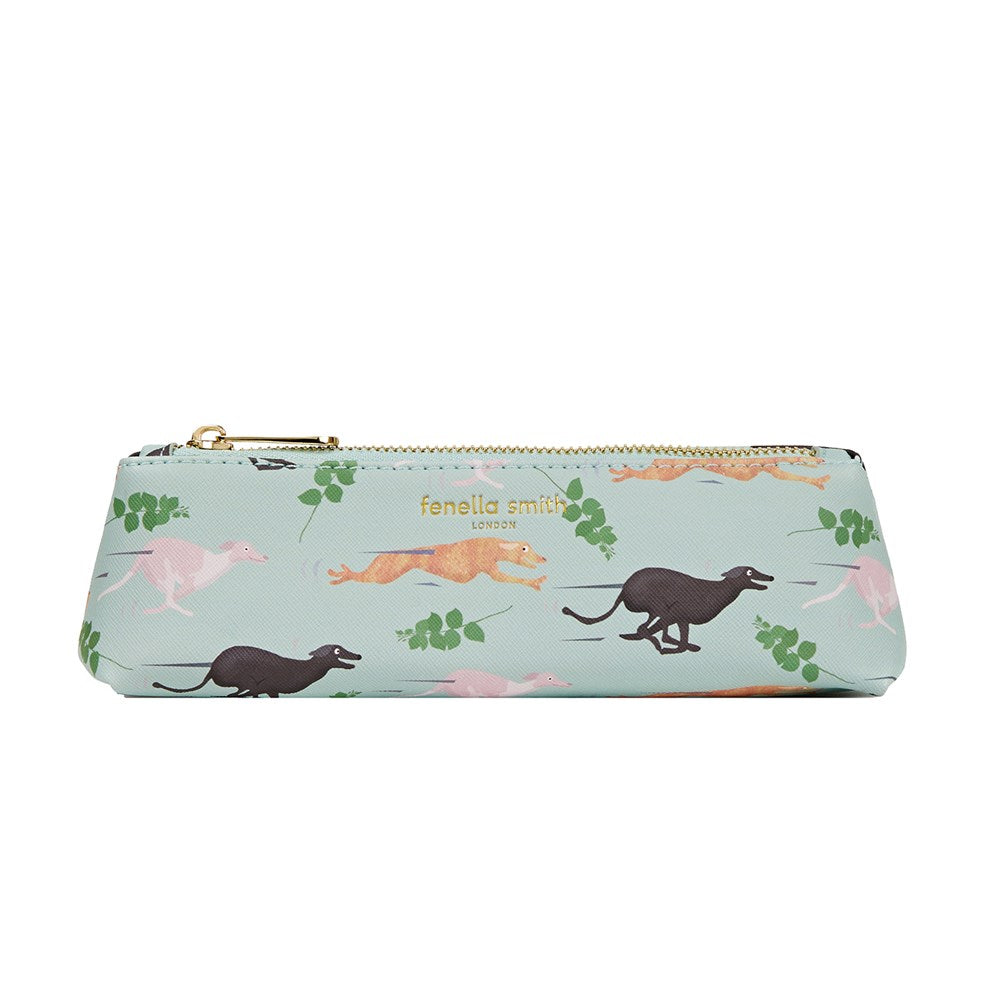 FENELLA SMITH- Fast Dog Vegan Leather  Pencil Case