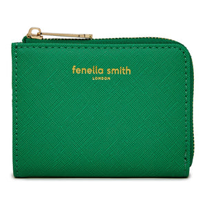 FENELLA SMITH- Green Vegan Leather Coin Purse - Frenchbazaar -Fenella Smith
