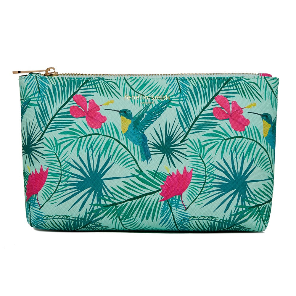 FENELLA SMITH- Hummingbird Vegan Leather Wash Bag - Frenchbazaar -Fenella Smith