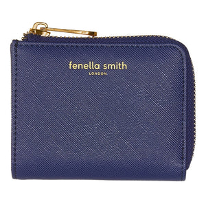 FENELLA SMITH- Navy Vegan Leather Coin Purse - Frenchbazaar -Fenella Smith