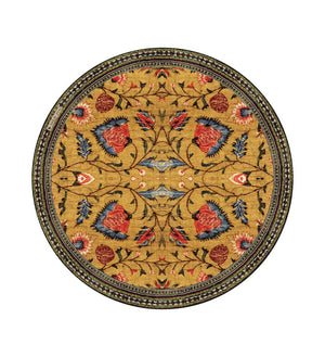 Placemat Bohemian Garden Yellow Round