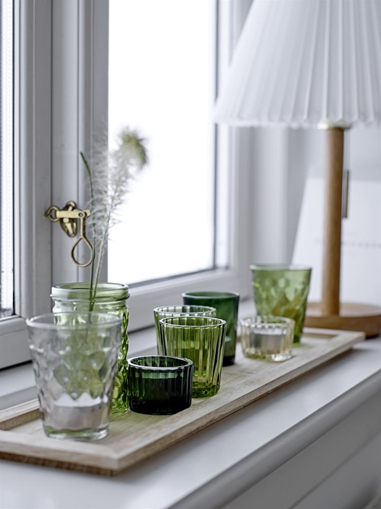 BLOOMINGVILLE - Votive Glass, Green Set of 9 - Frenchbazaar -Bloomingville