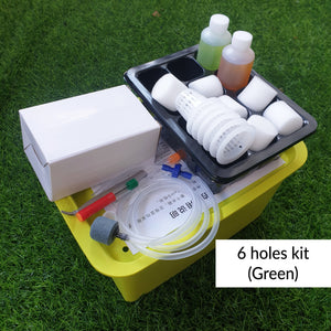 Hydroponics Growth Kit -6 Holes kit (Green)