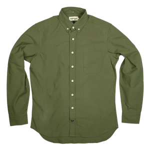 Taylor Stitch The Jack Oxford L/S Shirt - Army - Sunset Dry Goods