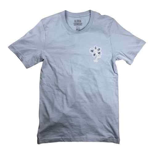 Aloha Sunday Flower Tee - Light Blue - Sunset Dry Goods & Men's Supply PH