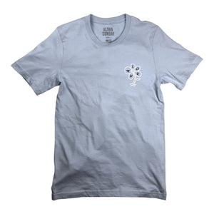 Aloha Sunday Flower Tee - Light Blue - Sunset Dry Goods