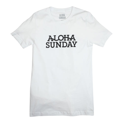 Aloha Sunday Seismic Tee - White - Sunset Dry Goods