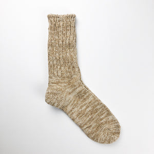 Anonymous Ism 2-pack Slub Crew Socks - Khaki - Sunset Dry Goods