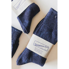Anonymous Ism Rib Crew Socks - Light Indigo - Sunset Dry Goods