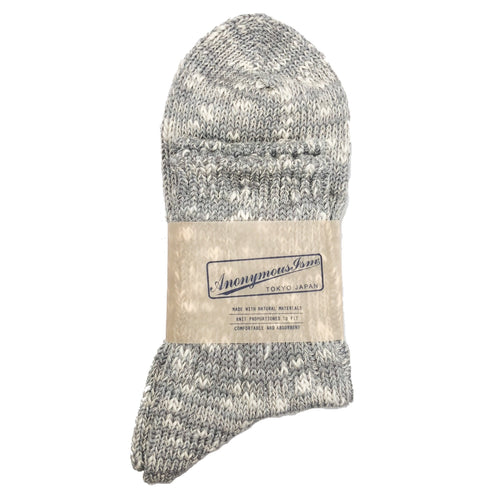 Anonymous Ism Slub Q Socks - Grey - Sunset Dry Goods