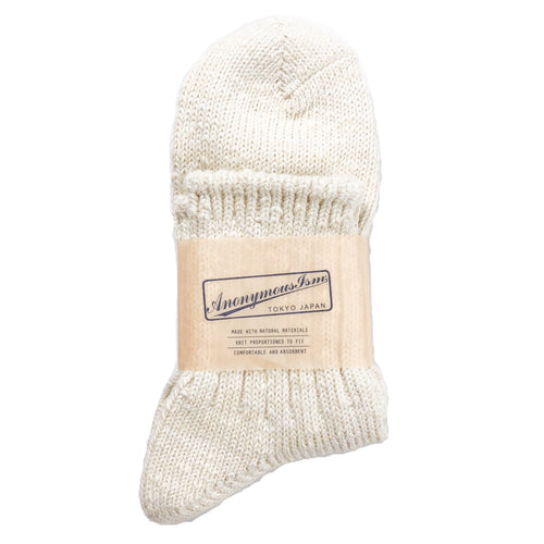 Anonymous Ism Slub Q Socks - Off White - Sunset Dry Goods & Men's Supply PH