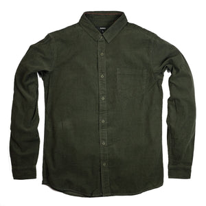 Banks 'Roy' Corduroy L/S Shirt - Army - Sunset Dry Goods