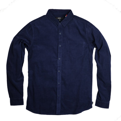 Banks 'Roy' Corduroy L/S Shirt - Dark Denim - Sunset Dry Goods