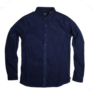 Banks Roy Corduroy L/S Shirt - Dark Denim - Sunset Dry Goods & Men's Supply PH