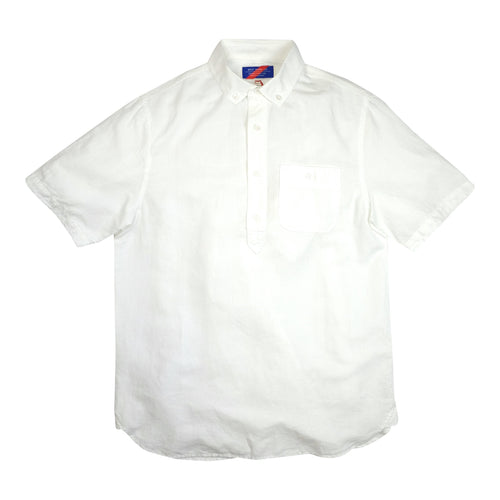 Best Made Co. Cotton Linen S/S Popover Shirt - White - Sunset Dry Goods