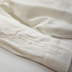Best Made Co. Plain Weave L/S Work Shirt - White - Sunset Dry Goods
