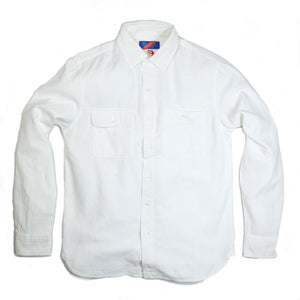 Best Made Co. Plain Weave L/S Work Shirt - White - Sunset Dry Goods & Men's Supply PH