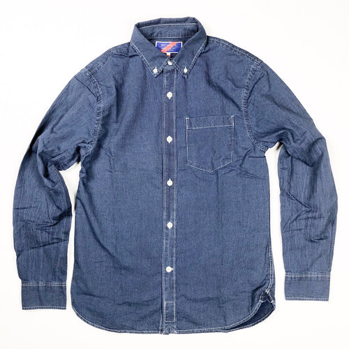 Best Made Co. Standard Cotton L/S Shirt - Indigo Stripe - Sunset Dry Goods & Men's Supply PH