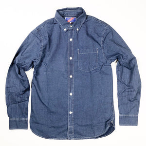Best Made Co. Standard Cotton L/S Shirt - Indigo Stripe - Sunset Dry Goods