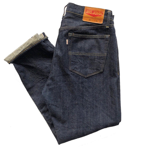 "Big John ""Ivy M114J"" 14oz. Unsanforized Japanese Selvedge Jeans (Regular Tapered) - Sunset Dry Goods"