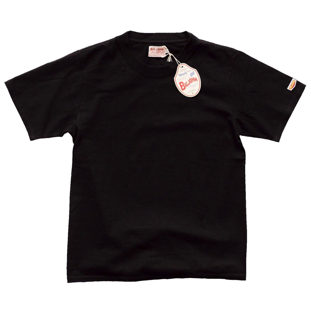 Big John Loopwheeled Crewneck Tee - Black - Sunset Dry Goods & Men's Supply PH