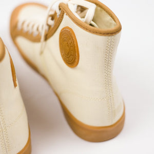 Colchester Rubber Co. Contrast High Top - Ecru x Dead Grass - Sunset Dry Goods