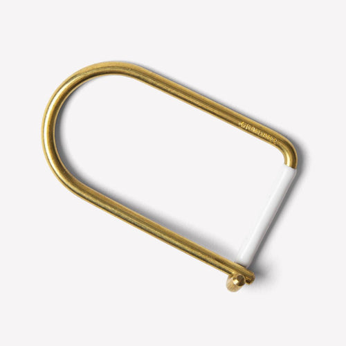 Craighill WIlson Brass Key Ring - White - Sunset Dry Goods & Men's Supply PH