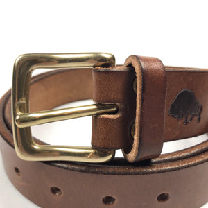 Ezra Arthur x American Trench Leather Belt - Buck Brown - Sunset Dry Goods & Men's Supply PH
