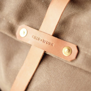 "Fieldwork Co. ""Hudson Bay"" Waxed Canvas Backpack - Field Tan - Sunset Dry Goods & Men's Supply PH"