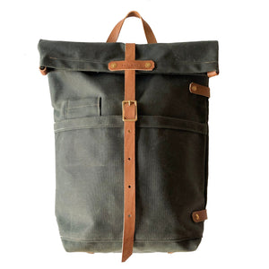 "Fieldwork Co. ""Hudson Bay"" Waxed Canvas Backpack - Forest Green - Sunset Dry Goods & Men's Supply PH"