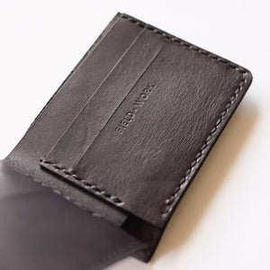 "Fieldwork Co. ""Issa"" Leather Wallet - Black - Sunset Dry Goods & Men's Supply PH"