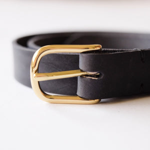 Fieldwork Co. Premium Leather Belt - Black - Sunset Dry Goods